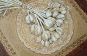 Linen Room Framed Prints - Garlic Framed Print by Patricia Januszkiewicz