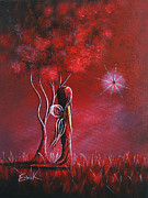 Youthful Painting Metal Prints - Garnet Fairy by Shawna Erback Metal Print by Shawna Erback