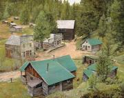 Old Village Posters - Garnet in Montana Poster by Guido Borelli