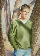 Kathy Morris Paintings - Garrett  at 18 by Kathy Morris