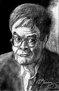 Author Mixed Media Prints - Garrison Keillor an American Treasure Print by Dean Gleisberg