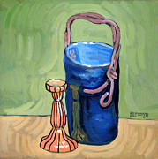 Pottery Paintings - Garron Pot by Robert Holewinski