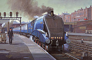 Nostalgia Paintings - Garter Blue by Mike  Jeffries