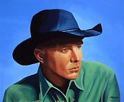 Singer Painting Framed Prints - Garth Brooks Framed Print by Paul  Meijering