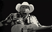 Garth Brooks Posters - Garth Brooks - Poster - Black and White  Poster by Carolyn Pettijohn