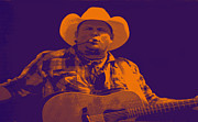 Garth Brooks Posters - Garth Brooks - Poster  Poster by Carolyn Pettijohn