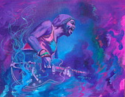 Guitarists Paintings - Gary Clark Jr. by Kathleen Kelly Thompson