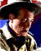 Actors Paintings - Gary Cooper by Allen Glass