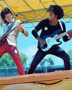 Concert Photos Art - Gary Moore and Phil Lynott of Thin Lizzy at Day on the Green 4th of July 1979 - 1st Color Unreleased by Daniel Larsen