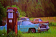 Esso Prints - Gas and Go Print by Bill Cannon