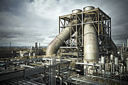 Power Plants Framed Prints - Gas-fired power station UK Framed Print by Jon Boyes
