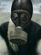 Gas Mask Posters - Gas Poster by Mark Zelmer