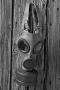 Gas Framed Prints - Gas Mask Framed Print by Garry Gay