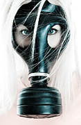 Beautiful Eyes Posters - Gas Mask Poster by Jt PhotoDesign