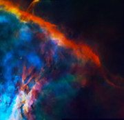 Telescope Images Posters - Gas Plume Orion Nebula 2 Poster by The  Vault