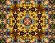 Gasket Framed Prints - Gasket Kaleidoscope Framed Print by Peggi Wolfe