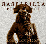 Jose Gasparilla Framed Prints - Gaspar 2013 vintage work Framed Print by David Lee Thompson