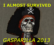 Gasparilla Prints - Gaspar work A Print by David Lee Thompson