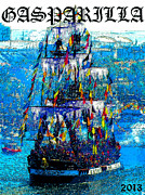 Jose Gasparilla Pirate Ship Posters - Gasparilla 2013 poster work A Poster by David Lee Thompson