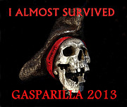 Jose Gasparilla Posters - Gasparilla 2013 posterTshirt work B Poster by David Lee Thompson
