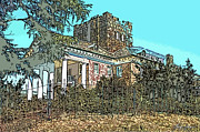 Stone House Pyrography Prints - Gassaway Mansion Print by Greg Joens