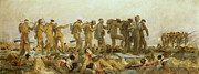 Wwi Painting Prints - Gassed    An Oil Study Print by John Singer Sargent