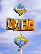Old Roadway Digital Art Posters - Gastons Cafe Poster by Ron Regalado