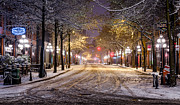 Vancouver Photo Metal Prints - Gastown Snow Metal Print by Alexis Birkill