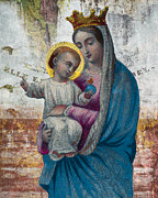 Madonna Digital Art Originals - Gate of Heaven Madonna with Baby Jesus  by David Reyna