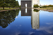 Oklahoma City Bombing Posters - Gate Reflection Poster by Diana Powell