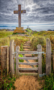 Path Digital Art - Gate to Holy Island  by Adrian Evans