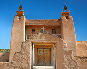 New Mexico Cards Prints - Gate To San Jose de Gracia II Print by Steven Ainsworth
