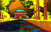 Tombs Digital Art - Gate to the Ming Tombs in China by Jan Marijs