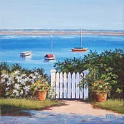 P Town Paintings - Gate to the Water by Candice Ronesi