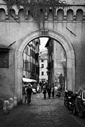 Trastevere Framed Prints - Gate way entrance to Trastavere Rome Lazio Italy Framed Print by Joe Fox
