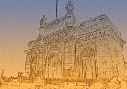 Sightseeing Digital Art - Gate Way Of India by Manjot Singh Sachdeva