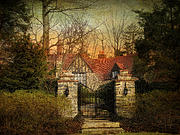 Stone Entrance Framed Prints - Gated Framed Print by Jessica Jenney