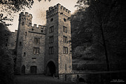 Poster From Digital Art Metal Prints - Gatehouse of Stolzenfels Castle Metal Print by Natalia Kempin