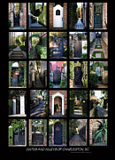 Sidewalks Posters - Gates And Alleys Of Charleston Sc Poster by Skip Willits