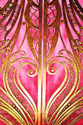Metalwork Framed Prints - Gates of Heaven in Pink and Gold Framed Print by Anahi DeCanio
