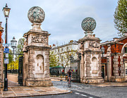 Royal Naval College Photos - Gates of the Old Royal Naval College by Ross Henton