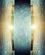 Aqua Digital Art - Gates to Aqua World by Wim Lanclus