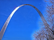 Mississippi Photographs Prints - Gateway Arch St Louis 03 Print by Thomas Woolworth