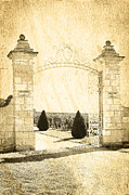 Traditional Doors Metal Prints - Gateway Into The Garden Metal Print by Heiko Koehrer-Wagner