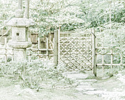 Bamboo House Digital Art Posters - Gateway to Serenity Poster by Aaron Hernandez