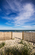 Beach Fence Prints - Gateway to Serenity Myrtle Beach SC Print by Stephanie McDowell