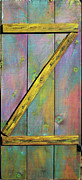 Yellow Sculpture Metal Prints - Gateway to Z Universe Metal Print by Asha Carolyn Young