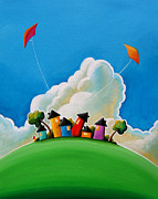 Kites Framed Prints - Gather Round Framed Print by Cindy Thornton