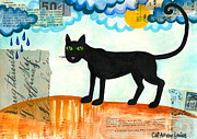 Free Spirit Art Print Posters - Gato Mexico Poster by Cat Athena Louise