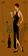 Gatsby Girl Print by Troy Brown